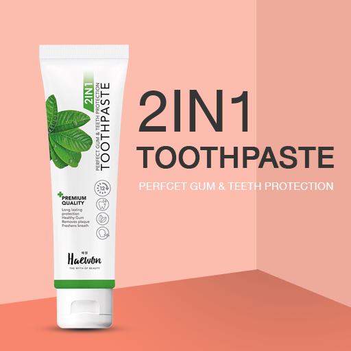 ยาสีฟันแฮวอน-2in1toothpaste