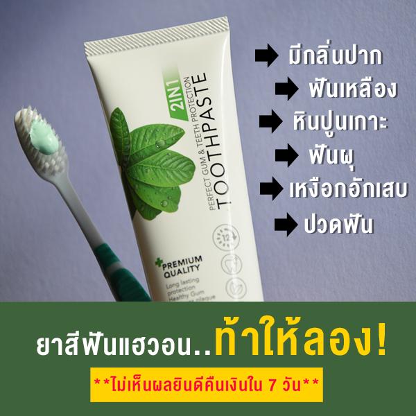 ยาสีฟันสมุนไพรแท้ ลดกลิ่นปาก ฟันเหลือง หินปูนเกาะ ฟันผุ ปวดฟัน ปวดเหงือก
